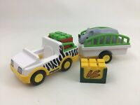 Playmobil 123 Take Along Safari Truck Set with Rhino and Food Accessories 6743