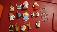 15 porcelain or mix Angel Christmas tree ornament lot vintage