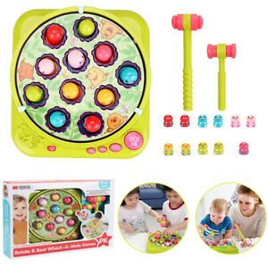 Electric Whack A Hamster Game Machine Educational Toys Gift Set for Boys Girls