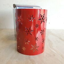 Scentsy Snowflake Warmer Wrap Christmas Ornament Sleeve glossy red