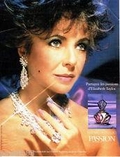 PUBLICITE ADVERTISING 066  1988    le parfum Elizabeth Taylor  Passion