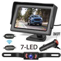 "Wireless IR Rear View Backup Camera w/ Night Vision System+ 4.3"" TFT LCD Monitor"
