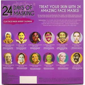 SKIN TREATS 24 DAYS OF MASKING ADVENT CALENDAR 24 X CLAY FACE MASKS WOMENS GIFT