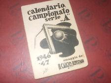 CALENDARIO CAMPIONATO CALCIO 1946 47 CALCIO ILLUSTRATO