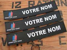 Bande patronymique .: NOIRE + Armée de terre :. LoT de 3 patro PERSONNALISABLE