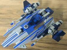 Custom Lego Star Wars Blue and Gray Jedi Fighter with Narvak, a Blue Rodian Jedi