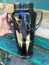 Hem Art Deco 1930 Antique with Greek Large Vase Silver Glass Crystal