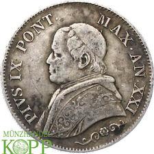 AA2743) Vatikan Rom Lira 1866 Pius IX., 1846-1878