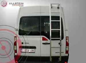 Hecktürleiter für den Opel Movano Höhe H1 passend zu Dachträger