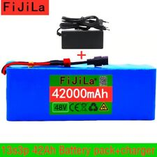 48V Li-ion Battery Pack For 54.6v E-bike Electric bicycle Scooter BMS + Charger
