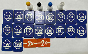 Game Parts Pieces Scotland Yard 1983 Ravensburger Pawns Start Cards Double Move