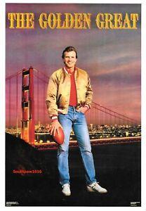 VTG Joe Montana 1987 Golden Great San Francisco 49ers NFL Costacos Poster NEW