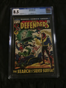 Marvel Comics 1972 Defenders #2 CGC 8.5 NM- Secret of the Silver Surfer!