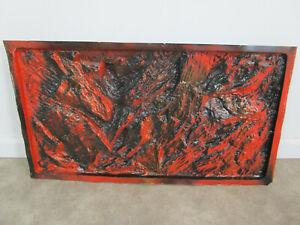 VINTAGE AQUARIUM terrarium background DECORATION plastic orange rock metaframe?