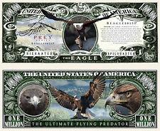 Eagle ~ Bird of Prey ~ Million Dollar Bill Collectible Funny Money Novelty Note
