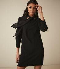 Reiss Yolanda Black Plain Bow Tie Dress (various sizes)