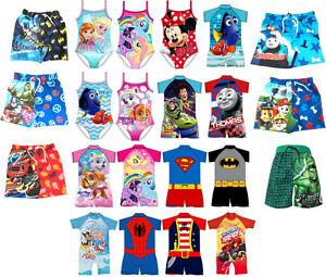 Kids Swimsuit Sunsafe Suit Swimming Costume Bathers Swimwear Age 1-6 Years NEW