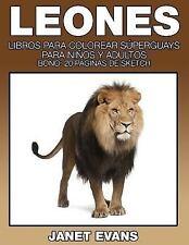 Leones : Libros para Colorear Superguays para Ninos y Adultos (Bono: 20...