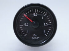 "52mm 2"" Mechanical Turbo Boost Gauge Meter 2 BAR White LED - Traditional Series"