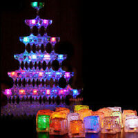12 pcs Rainbow Flashing LED Blinking Ice Cubes Wine Drink Party Club Rave Event