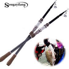 New listing 2.7M Telescopic Fishing Rod Carbon Fiber Travel Fishing Pole Us Fast Sougayilang