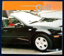 Prospekt brochure 2001 Volkswagen VW Golf (USA)