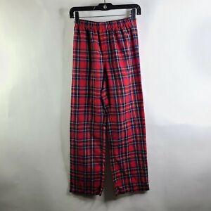 GAP Kids Red Blue Yellow Plaid Elastic Waist Flannel Pajama Pants Size 14