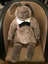 "Charleen Kinser Plush Floppy 24"" Maximilian the Rabbit c1980 552 Pa Number 58"