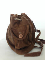Tasche Damentasche Rucksack  Bodybag Shopper Tragetasche Echtleder Braun Neu