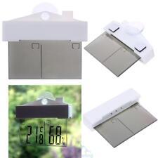 Digital Fenster Thermometer LCD Innen Außen Hygrometer mit Saugkopf Transparent