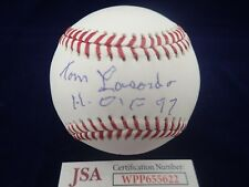 "Tommy ""Tom"" Lasorda LA Dodgers Signed OML Baseball  W/ HOF 97- JSA WPP655622"