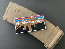 Flat Dark Earther morale Patch With hook/loop Backing (pair) #91 #92