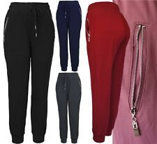 Womens Solid Fleece Lined Causal Activewear Jogger Sweatpants