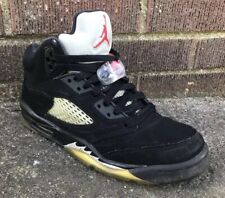 f1331aa50cd553 Men s Vintage Original OG 1990 Nike Air Jordan V 5 Black Metallic Silver 3M  ...