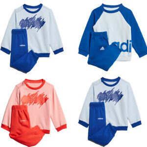 Adidas Kids Baby Infant Tracksuit Linear Boy Girl Child Fleece Suit Set Jogger