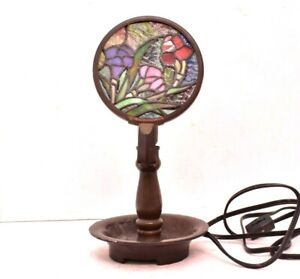 Tiffany Style Bedside Candle type Table Lamp ELECTRIC Night light Stained Glass
