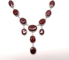 Fabulous Chandelier style NATURAL HUGE RUBY Sterling Silver Dangle Necklace