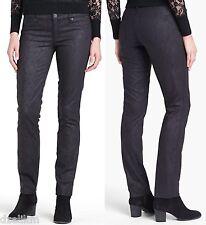 NWT $225 Tory Burch Printed Skinny Jeans Black Size 25
