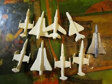 VTG 1960's PLASTIC MILITARY JET AIRPLANE AIRCRAFT TOYS LOT ~