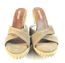 Collin Stuart Women's Wedge Open Toe Sandal Shoes 9b
