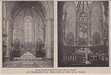 1909  --  EGLISE DE SAINT CANNAT AVANT ET APRES TREMBLEMENT DE TERRE    3H160