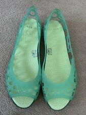 Crocs Aqua Coloured Jelly Sandals Size 6