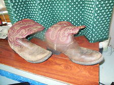 Vintage Cowboy Boots Justin Leather 10Ee Great Display or Wear