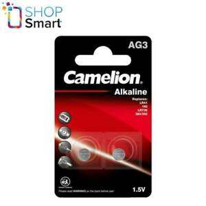 2 CAMELION AG3 LR736 ALKALINE BATTERIES LR41 392 G3 1.5V 2BL 28mAh EXP 2026 NEW