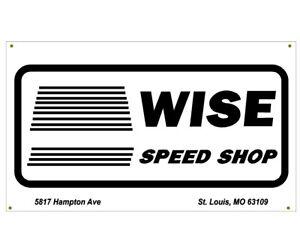 Wise Speed Shop Garage Banner Man Cave Banner