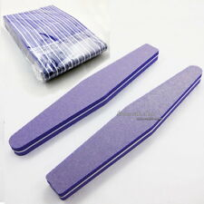 10 Pcs Nail Art Sanding Files Block Sponge Grit Salon Tools Set #100 #180 Purple