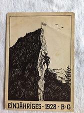 Einjähriges - 1928 - B-G Postcard