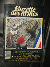 GAZETTE DES ARMES 185 MAS FAURE LEPAGE STOBTRUPPEN SABRE DRAGON BAIONNETTE