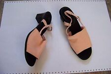 womens lifestride salmon fabric strap heels shoes size 8 1/2