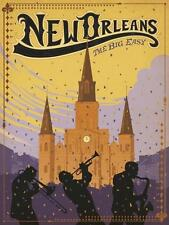 """""""New Orleans, The Big Easy"""" giclee open ed, Vintage Sign - Recreated 24x18"""